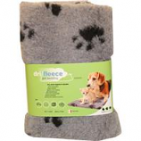Van Ness Plastic Molding - Dri-Fleece Pet Bedding With Paws - Grey - 20 X 30 Inch