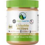 Green Coast Pet - Lickable Actives Hip & Joint Discomfort Support - Peanut Butter - 16 Oz