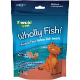 Emerald Pet Products - Wholly Fish Chicken - Free Cat Treats - Salmon - 3 Ounce