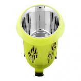 Iconic Pet - Color Splash - Designer Oval Fusion Bowl - Medium- Green - for Dog/Cat - 28 Oz