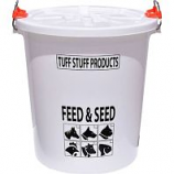 Tuff Stuff Products - Feed Storage Drum With Locking Lid - White - 7 Gallon