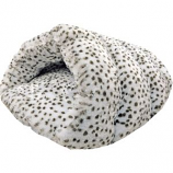 Ethical Fashion - Seasonal - Sleep Zone Snow Leopard Cuddle Cave - Snow Leopard - 22 Inch