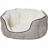 Midwest Homes For Pets - Quiet Time Tulip Pet Bed Fur - Taupe - Xsmall