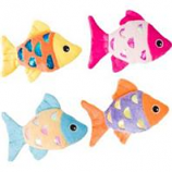 Ethical Cat - Shimmer Glimmer Fish W/Catnip Cat Toy - Assorted  - 4.5 In