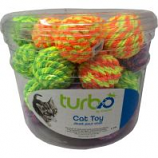Coastal Pet Products -Turbo Rattle Balls Cat Toy Canister - Multi - 36 Piece