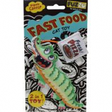 Fuzzu - Gator & Pizza Fast Food Catnip Cat Toy - Green - Small