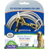 Four Paws - Container - Four Paws Dog Tie Out Cable- Heavyweight - Silver - 15 Ft