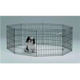 Midwest Container - 8 Panel Exercise Pen - Black - 24 X 24 Inch