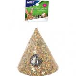 Ware Manufacturing - Bird / Small Animal - Critter Ware Health-E-Cone W Hay - Natural