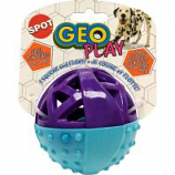 Ethical Dog -Geo Play Ball - Assorted - 3.5 Inch