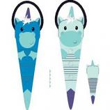 Charming Pet Products - Reversible Tuggerz Unicorn/Dragon Toy - Blue - XLargearge