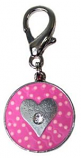 Leather Brothers - Dots Heart Pendant - Pink
