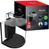 Aquatop Aquatic Supplies  - Pisces Nano Bowfront Glass Aquarium - 3 Gallon - Black