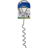 Four Paws - Container - Four Paws Walk-About Spiral Tie-Out Stake - Silver - 19 In