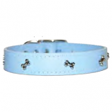 "Leather Brothers - 1"" Regular Leather Bone Ornament - Baby Blue  - 26"" Length"