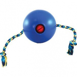 Ethical Dog - Tuggo Ball With Rope - Blue - 4 Inch