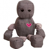 SnugArooz - Snugz Ryder The Robot - Grey - 13 Inch