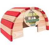 Ware Manufacturing  Bird / Small Animal - Wood Den Hide Out - Red/Natural - Large