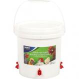 Ware -Sideways Sipper Poultry Water Bucket -White -2.5 Gallon
