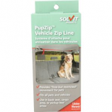 Solvit Products - Pupzip Vehicle Zipline For Bench Seat & Pickup Bed - Red