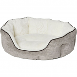 Midwest Homes For Pets - Quiet Time Tulip Pet Bed Fur - Taupe - Medium