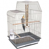 Ware - Bird/Sm An -Bird Central Cockatiel/Conure Cage -Gray/White
