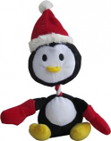 Iconic Pet Christmas - Penguin Rope/Squeaky Christmas Dog Toy - 9 Inch