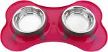 Color Splash - Designer Bone Shape Fusion Diner - Pink - for Dog/Cat- 32 Oz - 4 Cups