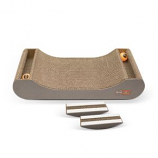 K&H Pet Products - Kitty Tippy Scratch N Track Cardboard Toy - Brown - 20.5X9.5