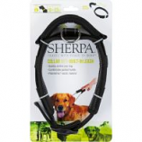 Quaker Pet Group -Sherpa Dog Collar With Built In Leash - Black - Large