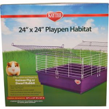Super Pet - Kaytee My First Home Playpen Habitat - Purple - 24X24 Inch