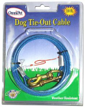 Leather Brothers - 10' Tie-Out Cable - Blue