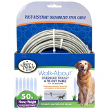 Four Paws - Trolly Excerciser Heavy Weight  - Silver - 50 Feet