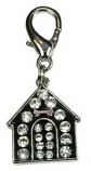 Leather Brothers - Dog House W/Rhinestones pendant - Black