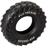 Ethical Dog - Pup Treads Rubber Tire - Black - 4 Inch
