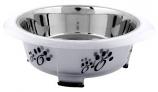 Color Splash - Designer Oval Fusion Bowl - Medium - Gray - for Dog/Cat - 28 Oz - 3.5 Cups