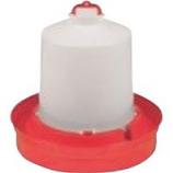 Miller Manufacturing P8FBBLACK Plastic Flat Back Bucket for Horses 8-Quart Black