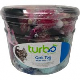 Coastal Pet Products -Turbo Monster Wand with Feathers Canister - Multi - 33 Piece