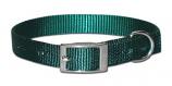 "Leather Brothers - 5/8"" Regular 1-Ply Nylon Collar - Green - 18"" Length"