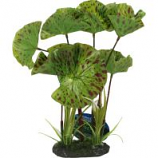 Blue Ribbon Pet Products -Tropical Gardens Lotus Plant - Green - Small