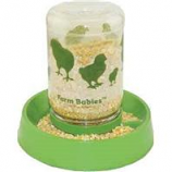 Lixit Corporation - Farm Babies Baby Chick Feeder-Fount - Clear / Green - 32 Ounce