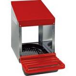 Miller Mfg - Galvanized Nesting Box with Plastic Basket - Red - Single