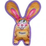 Fuzzu - Hopper All Ears Tough & Crackly Dog Toy - Yellow - Medium