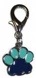 Leather Brothers - Charm Enamel Paw Pendant - Blue