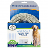 Four Paws - Trolly Excerciser Heavy Wght - Silver - 100 Feet