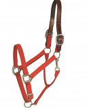 Horse And Livestock Prime - Halter Leather Crown Econ - Red - Cob