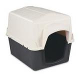 Petmate - Barnhome 3 Dog House - White / Gray - Small