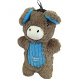 Charming Pet Products - Peek - A - Boo Donkey Dog Toy - Brown - Med/9 Inch