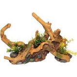 Blue Ribbon Pet Products - Driftwood Centerpiece With Plants - Natural - Large