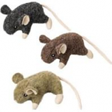 Ethical Cat - Wool Mouse W/Catnip Cat Toy - Assorted - 3.5 In